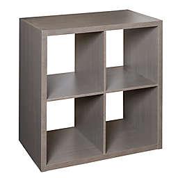 Honey-Can-Do® Premium Laminate 4-Cube Organizer Shelf in Teak