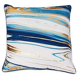 Thro Kia Marble Raised Foil Square Decorative Pillows