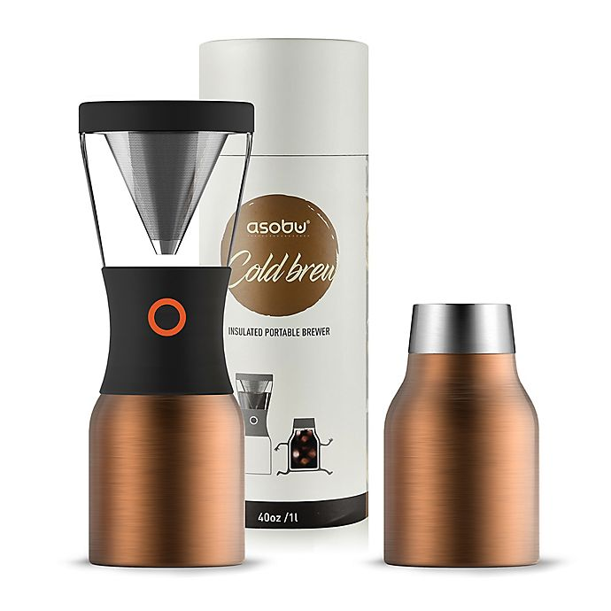 Alternate image 1 for ASOBU 40 oz. Stainless Steel Cold Brew Coffee Maker in Copper