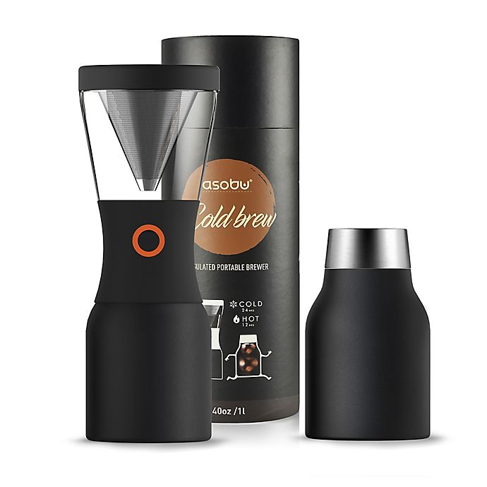 Alternate image 1 for ASOBU 40 oz. Stainless Steel Cold Brew Coffee Maker