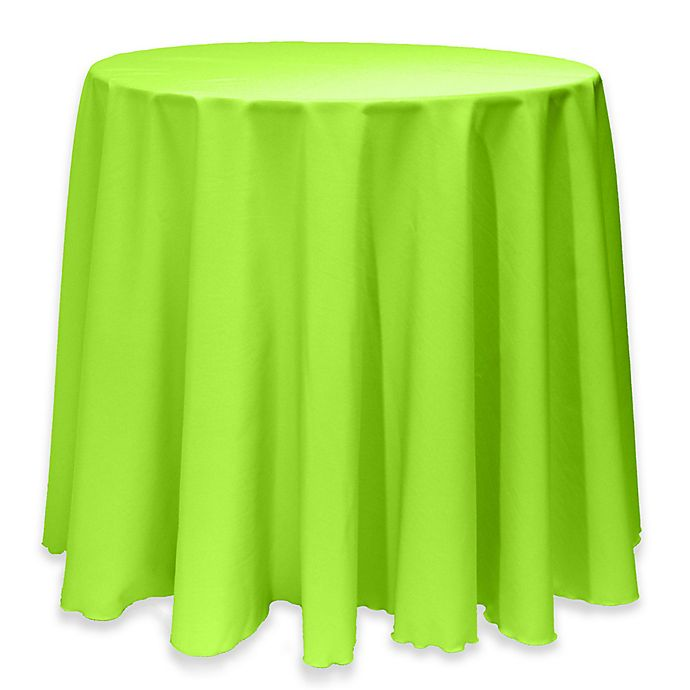 Alternate image 1 for Basic 114-Inch Round Tablecloth in Neon Green