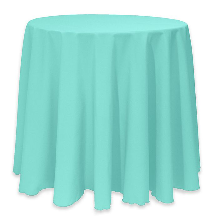 Alternate image 1 for Basic 114-Inch Round Tablecloth in Caribbean