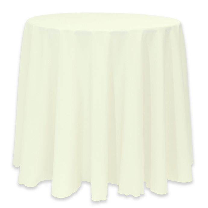 Alternate image 1 for Basic 114-Inch Round Tablecloth in Ivory