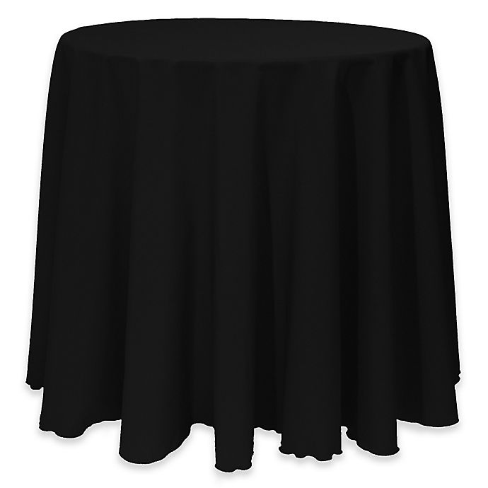 Alternate image 1 for Basic 114-Inch Round Tablecloth in Black