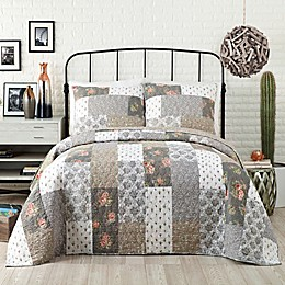 Jessica Simpson Floribunda Quilt in Grey