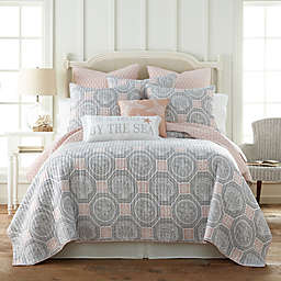 Levtex Home Sea Isle Reversible King Quilt in Grey/Pink