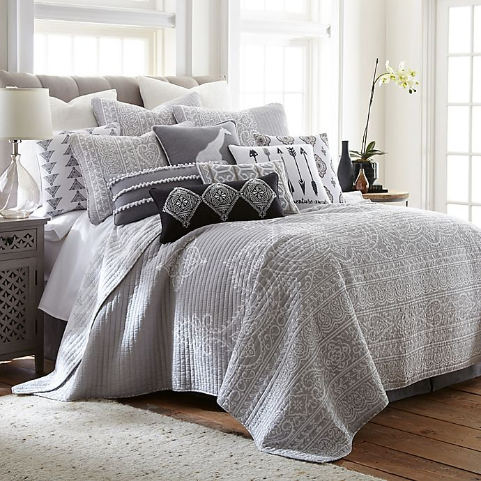 Alternate image 1 for Levtex Home Nia Reversible Twin Quilt Set in Grey