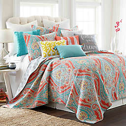 Levtex Home Sherie Reversible Quilt Set in Coral/Blue