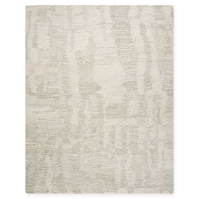 Alternate image 1 for Nourison Ellora 7'9 x 9'9 Hand-Knotted Area Rug in Ivory/Grey