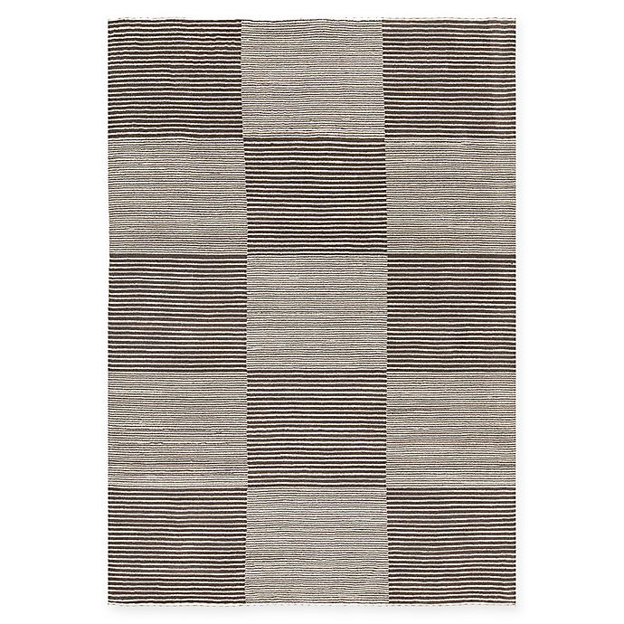 Alternate image 1 for Chandra Rugs Elantra 9' x 13' Hand Knotted Area Rug in Cream/Brown