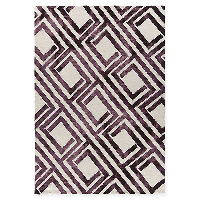 Alternate image 1 for Chandra Rugs Elvo Hand-Tufted 7'9 x 10'6 Area Rug in Purple/White