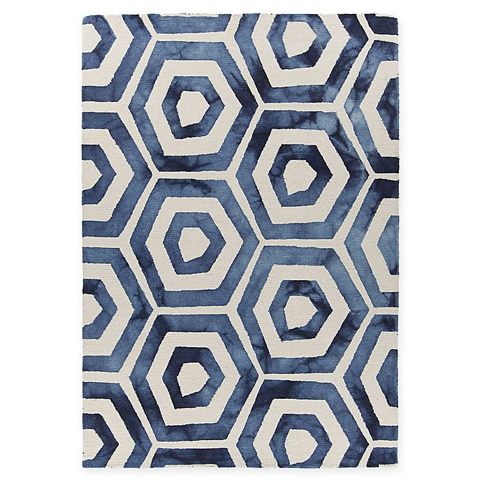 Alternate image 1 for Chandra Rugs Elvo Hand-Tufted 7'9 x 10'6 Area Rug in Blue/White