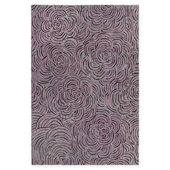 Alternate image 1 for Chandra Rugs Leia 7'9 x 10'6 Area Rug in Burgundy/Grey