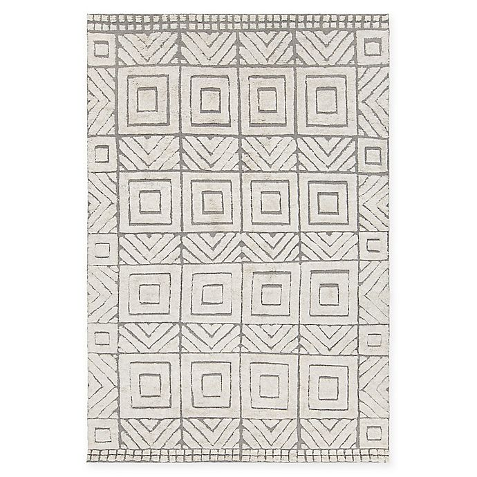 Alternate image 1 for Chandra Rugs Genna Hand-Knotted 7'9 x 10'6 Area Rug in White