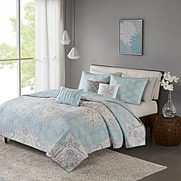 Madison Park Lucinda Reversible Coverlet Set