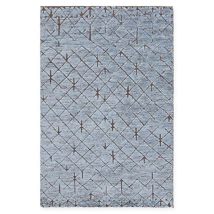 Alternate image 1 for Chandra Rugs Genna Hand-Knotted 7'9 x 10'6 Area Rug in Blue
