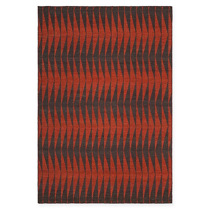 Alternate image 1 for Chandra Rugs Winnie Absract Line 5' x 7'6 Handcrafted Area Rug in Red/Grey