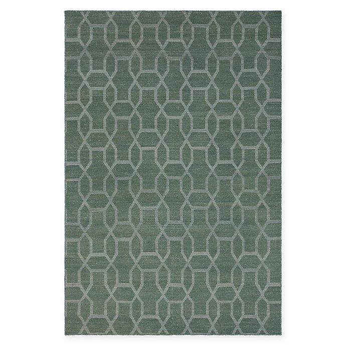 Alternate image 1 for Chandra Rugs Winnie Geometric Link 7'9 x 10'6 Handcrafted Area Rug in Green