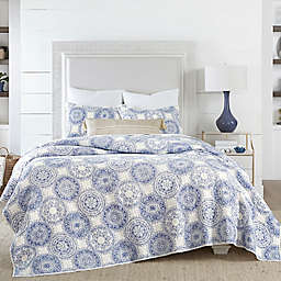 Coastal Living Indigo Coastal Medallion Quilt Set