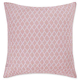 Levtex Home Sea Isle European Pillow Sham in Pink/White