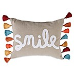 Levtex Home Smile Oblong Throw Pillow in Natural
