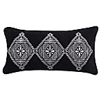 Levtex Home Nia Tri Diamond Rectangle Throw Pillow in Black/White