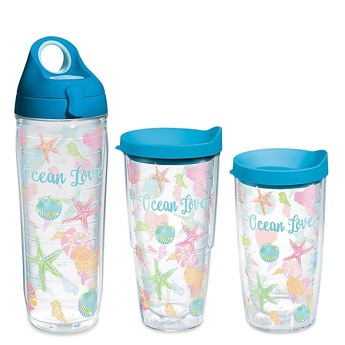 Alternate image 1 for Tervis® Ocean Love Wrap Drinkware with Lid