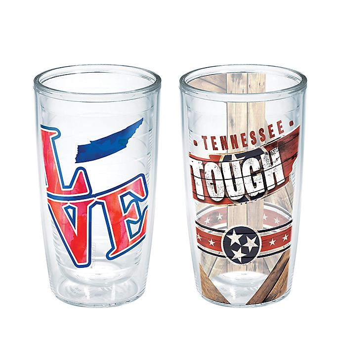 Alternate image 1 for Tervis® Simply Southern Tennessee Love/Tough 16 oz. Wrap Tumblers (Set of 2)