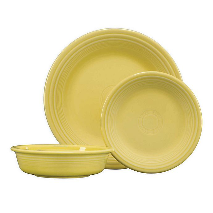 Alternate image 1 for Fiesta® 3-Piece Classic Place Setting in Sunflower