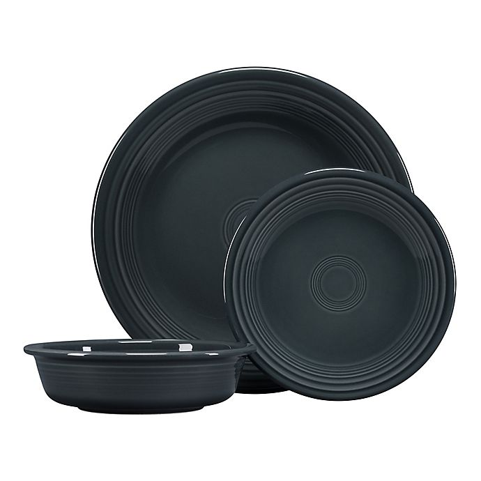 Alternate image 1 for Fiesta® 3-Piece Classic Place Setting in Slate