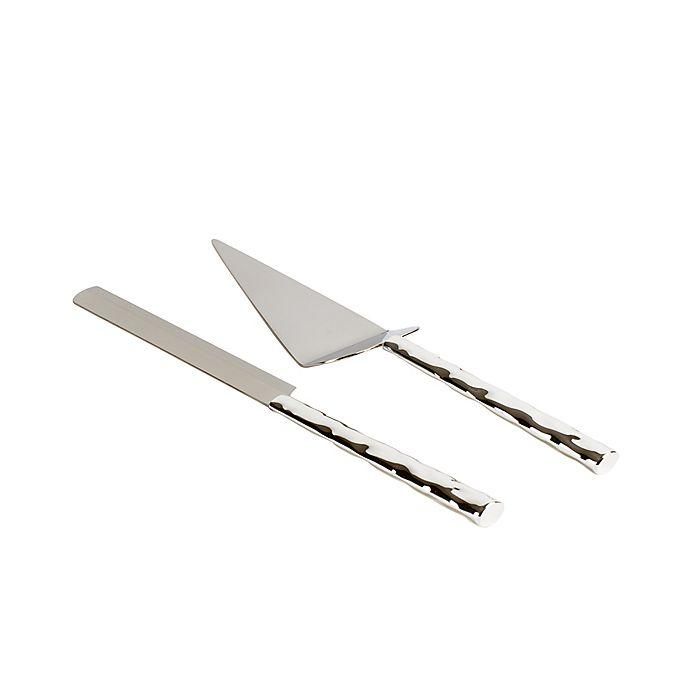 Alternate image 1 for Olivia & Oliver® Harper 2-Piece Cake Knife and Server Set in Silver