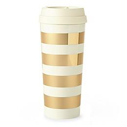 kate spade new york Gold Stripe Thermal Travel Mug