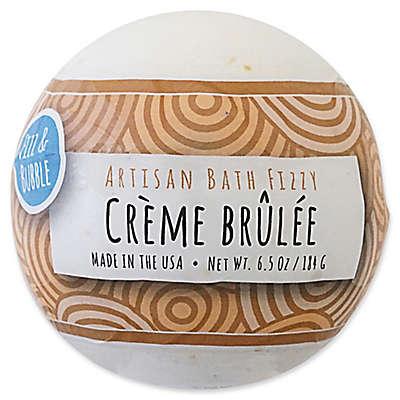 Fizz & Bubble 6.5 oz. Artisan Bath Fizzy in Crème Brulée
