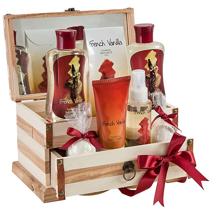 Alternate image 1 for Freida & Joe French Vanilla Jewelry Box Fragrance Spa Set