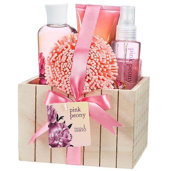 Alternate image 1 for Freida & Joe Pink Peony Fragrance Spa Set