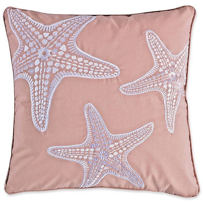 Alternate image 1 for Levtex Home Sea Isle Starfish Square Throw Pillow in Blush
