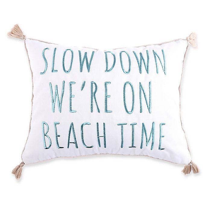 Alternate image 1 for Levtex Home Kapalua Bay Beach Time Oblong Throw Pillow in White