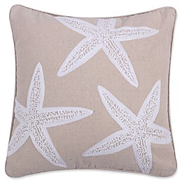 Levtex Home Kapalua Bay Starfish Square Throw Pillow in Taupe