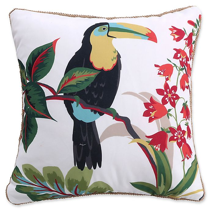 Alternate image 1 for Levtex Home Teraina Toucan Square Throw Pillow in Taupe
