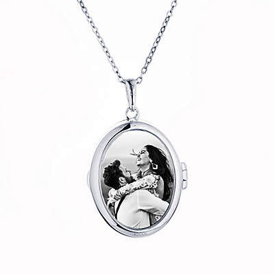 With You Lockets Sterling Silver 18-Inch Chain Glass Ginny Photo Locket Necklace