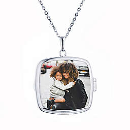 With You Lockets Sterling Silver 18-Inch Chain Glass Katie Photo Locket Necklace