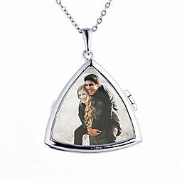 With You Lockets Sterling Silver 18-Inch Chain Glass Lilah Photo Locket Necklace