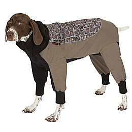 Ultra Paws Weathermaster Dog Snowsuit with Ultra-Heat Liner in Gray