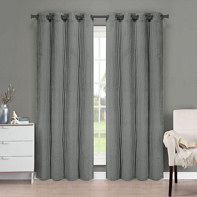Alternate image 1 for Brielle Velvet Grommet Top Window Curtain Panel