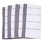 Diamond 8-Pack Kitchen Towels in Grey