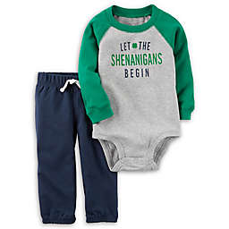 "carter's® Newborn 2-Piece ""Shenanigans"" Bodysuit and Pant Set"