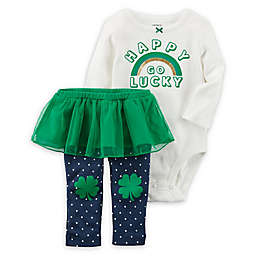 "carter's® 2-Piece ""Happy Go Lucky"" Bodysuit and Pant Set"