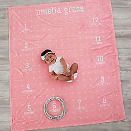 Monthly Milestone Baby Fleece Blanket