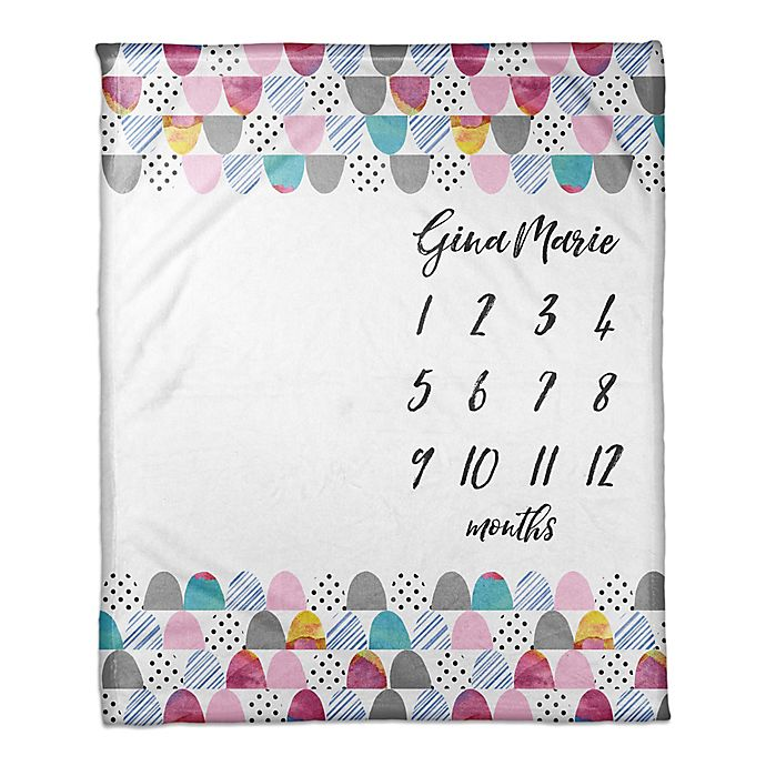 Alternate image 1 for Designs Direct Colorful Scales Milestone Throw Blanket in Pink