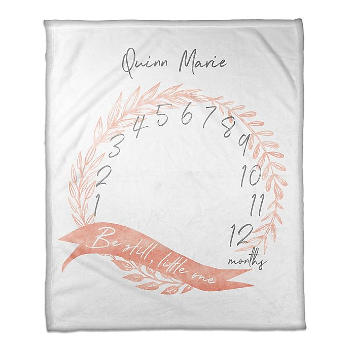 Alternate image 1 for Designs Direct Little One Milestone Throw Blanket in Pink